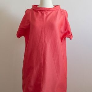COS Coral collar dress  with pockets